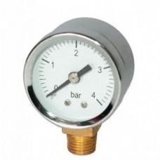 Манометр для компрессора, радиальный, резьба 1/4, 4 bar