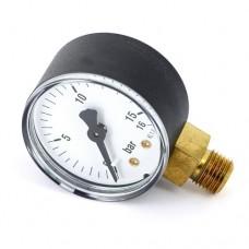Манометр для компрессора, резьба 1/4, радиальный 16 bar